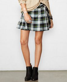 Denim and Supply Ralph Lauren Pleated Plaid Mini Skirt at Macys