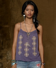 Denim and Supply Ralph Lauren Top Sleeveless Embroidered Peasant Camisole - Tops - Women - Macys at Macys