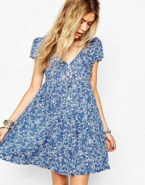 Denim and Supply by Ralph Lauren  Denim and Supply By Ralph Lauren Floral Babydoll Dress at Asos
