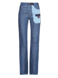 Denim patchwork jeans by See by Chloe at Matches