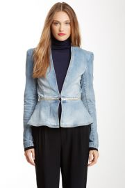Denim peplum jacket by Rebecca Taylor at Nordstrom Rack