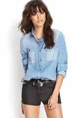 Denim shirt at Forever 21