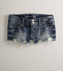 Denim shorts at American Eagle