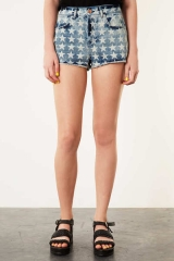 Denim star hotpants at Topshop