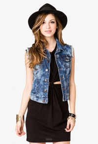 Denim vest at Forever 21