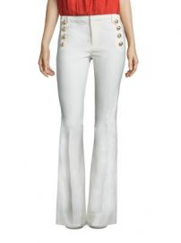 Derek Lam 10 Crosby - Flare Cotton Blend Trousers at Saks Fifth Avenue
