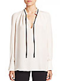 Derek Lam - Long-Sleeve Tie-Neck Silk Blouse at Saks Fifth Avenue