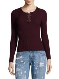 Derek Lam 10 Crosby - Barbell Rib-Knit Wool Pullover at Saks Off 5th