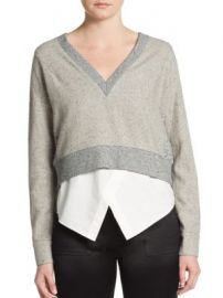 Derek Lam 10 Crosby - Dual-Tone Cropped Sweater at Saks Off 5th