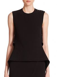 Derek Lam 10 Crosby - Open-Back Peplum Top at Saks Fifth Avenue