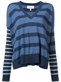 Derek Lam 10 Crosby Striped V-Neck Pullover - Farfetch at Farfetch