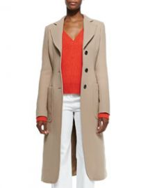 Derek Lam Brushed Double-Face Crepe Coat at Neiman Marcus