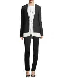 Derek Lam JKT BICOLORED COLLARLESS TAI at Neiman Marcus