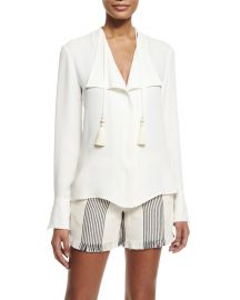Derek Lam Tassel Blouse at Bergdorf Goodman