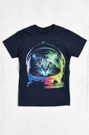 Design By Humans Astronaut Cat Tee at Urban Outfitters