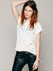 Destroyed Muscle Tee at Free People