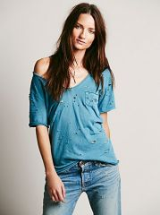 Destroyed Tommy Tee at Free People