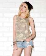 Destroyed camo muscle tank from Forever 21 at Forever 21