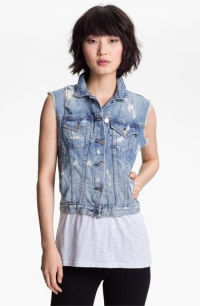 Destroyed denim vest by Rag and Bone at Nordstrom