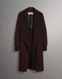 Detachable Rib Knit Collar Cashmere Coat by Burberry at Burberry