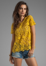 Devine crochet lace top by Joie at Revolve