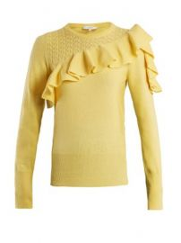 Dharma ruffle-trimmed knit sweater at Matches
