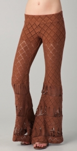 Diamond crochet bell bottoms by Nightcap at Shopbop