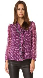 Diane von Furstenberg Havanah Tie Neck Blouse at Shopbop
