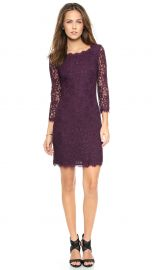 Diane von Furstenberg Zarita Lace Dress purple at Shopbop