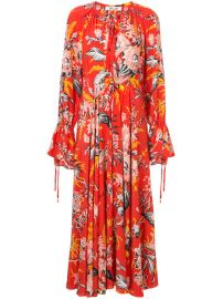Diane Von Furstenberg Bethany Cinch Sleeve Maxi Dress at Farfetch