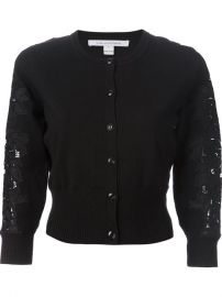 Diane Von Furstenberg Cropped Lace Sleeve Cardigan - Gente Roma at Farfetch