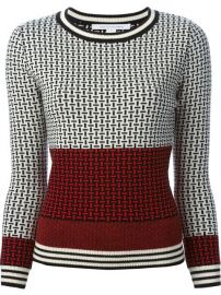 Diane Von Furstenberg Geometric Pattern Jacquard Knit Sweater - Al Duca Dand39aosta at Farfetch