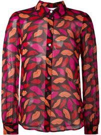 Diane Von Furstenberg Lips Printed Shirt - Cose at Farfetch