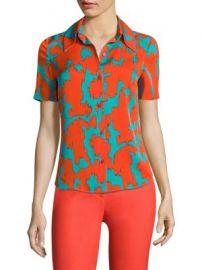 Diane von Furstenberg - Abstract-Print Collared Shirt br at Saks Fifth Avenue