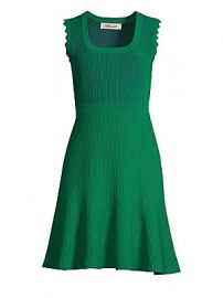 Diane von Furstenberg - Adi Rib-Knit Scallop A-Line Dress at Saks Fifth Avenue