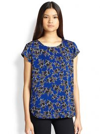 Diane von Furstenberg - America Too Star-Print Silk Top at Saks Fifth Avenue