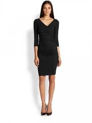 Diane von Furstenberg - Bentley Ruched Jersey Dress at Saks Fifth Avenue