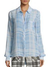 Diane von Furstenberg - Carter Plaid Shirt at Saks Off 5th