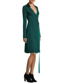 Diane von Furstenberg - Checkered Wrap Dress at Saks Fifth Avenue