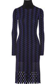 Diane von Furstenberg   Cutout two-tone wool turtleneck midi dress at Net A Porter