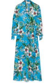 Diane von Furstenberg   Floral-print wrap dress at Net A Porter