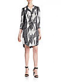 Diane von Furstenberg - Freya Printed Stretch-Silk Shirtdress at Saks Off 5th