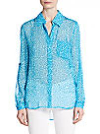 Diane von Furstenberg - Lorelei Two Silk-Chiffon Blouse at Saks Off 5th