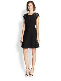 Diane von Furstenberg - Maddie Lace-Trimmed Dress at Saks Fifth Avenue