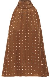 Diane von Furstenberg   Polka-dot silk crepe de chine blouse at Net A Porter
