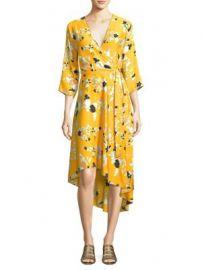 Diane von Furstenberg - Silk Floral Dress at Saks Fifth Avenue