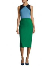 Diane von Furstenberg - Sleeveless Tailored Wool Blend Dress at Saks Off 5th