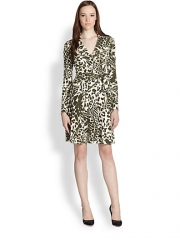 Diane von Furstenberg - T72 Printed Silk Wrap Dress at Saks Fifth Avenue