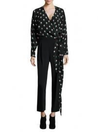 Diane von Furstenberg - V-Neck Silk Wrap Blouse at Saks Fifth Avenue