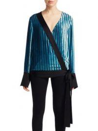 Diane von Furstenberg - Velvet Crossover Top at Saks Fifth Avenue